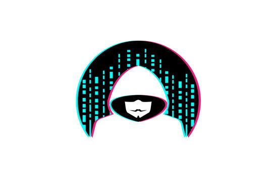 Hacker Logo Design Illustration