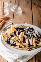 Crepes bio homemade, food photography, delish dessert