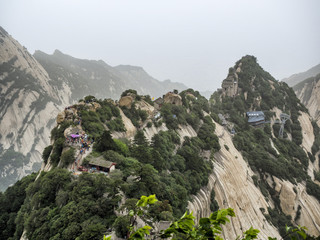 Huashan mountain North Peak view - Xian, Shaaxi Province, China