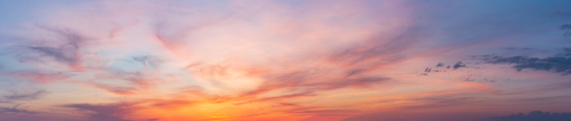 Colorful sunset twilight sky Wall mural