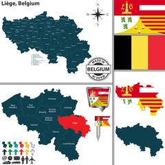 Map of Liege, Belgium