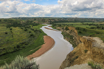 Little Missouri River, Wind Canyon Trail in Theodore Roosevelt National Park