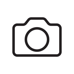 Icon camera. Logo, design, universal, business, social media. Pixel perfect. Vector Eps10.