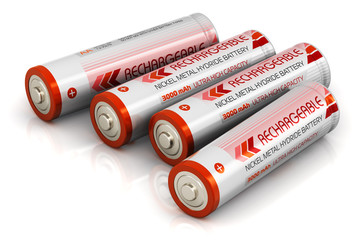 Group of AA size batteries