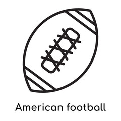 American football icon vector sign and symbol isolated on white background, American football logo concept