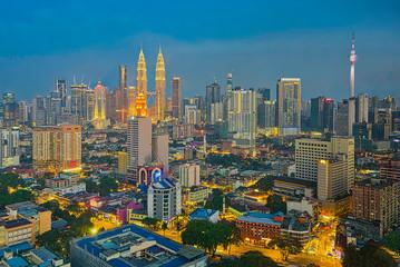 Skyline of Kuala Lumpur at Blue Hour