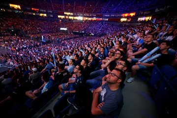 Fans of Electronic Sports (E-Sports) watch the final of the ESL One Cologne Counter-Strike tournament at the Lanxess Arena in Cologne