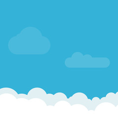 Sky Background. Clouds. Vector Flat design