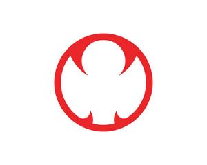 Viper logo template design in a triangle. Vector illustration.