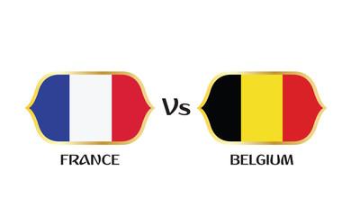 France versus Belgium soccer semi final match.