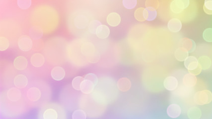 Dromerig bokeh van frisse, zoete pastelkleuren