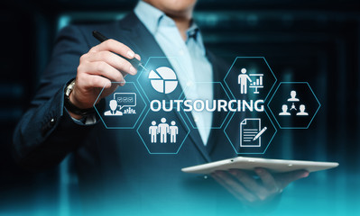Outsourcing Human Resources Business Internet Technology Concept