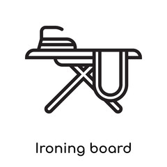 Ironing board icon vector sign and symbol isolated on white background, Ironing board logo concept