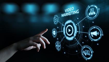Video Marketing Advertising Businesss Internet Network Technology Concept