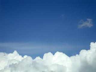 clouds in clear sky, blue sky, white clouds, texture, background