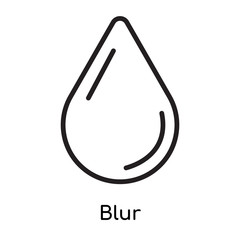 Blur icon vector sign and symbol isolated on white background, Blur logo concept
