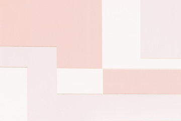Abstract minimal style architecture background. Modern warm pastel color building facade detail. Colorful paint geometric backdrop - toned effect. Wide photo for web site slider. .