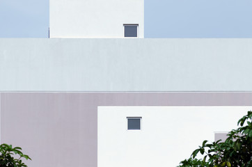 Abstract minimal style architecture background. Modern cool pastel color building facade detail....