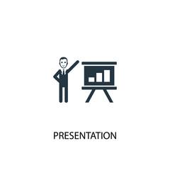presentation icon. Simple element illustration