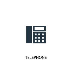 Telephone creative icon. Simple element illustration