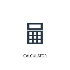 Calculator creative icon. Simple element illustration
