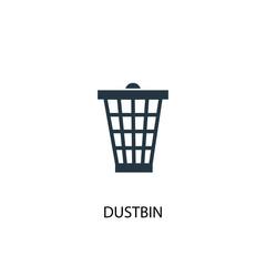 Dustbin creative icon. Simple element illustration