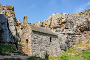 Chapel at St Govans Head on the Pembrokeshire Coast