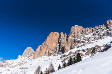 Ski resort in Dolomites Mountains
