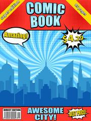 Comic book cover template