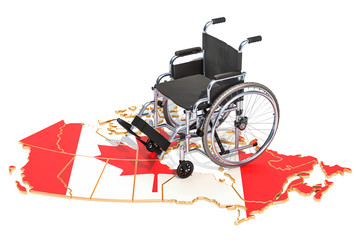 Disability in the Canada concept, 3D rendering