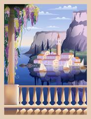 Mediterranean romantic landscape