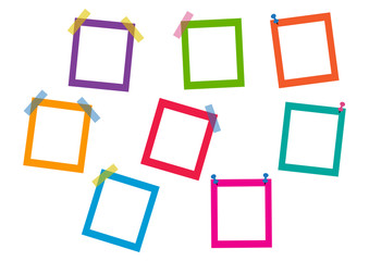 Colorful square frames. Vector illustration