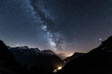 ciel étoile à Chamonix