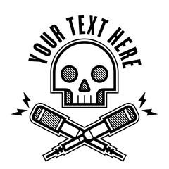 Skull Microphone Logo