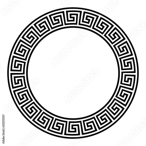 Quot Circle Frame With Seamless Meander Pattern Meandros A