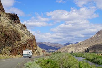 Basalt columnar cliffs of Picture Gorge