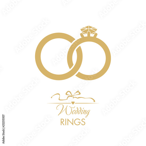 Wedding Logo Gold Wedding Rings Attributes And Decoration Ceremony