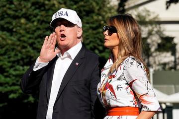 President Donald Trump returns to the White House