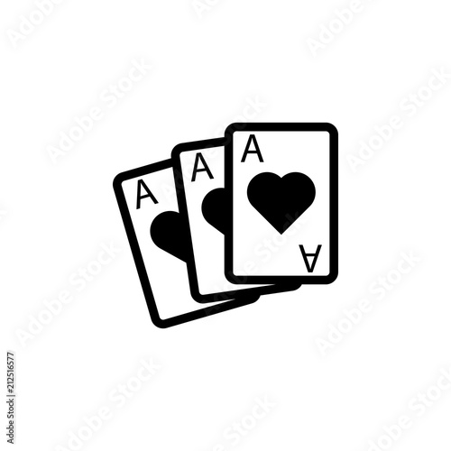 Playing Cards Aces Icon Element Of Casino Icon Premium Quality