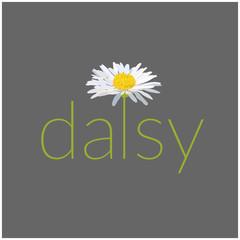 daisy text vector illustration. card. greeting. name logo.