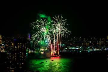 International Fireworks Festival over Pattaya City and Beach