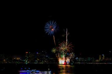 International Fireworks Festival over Pattaya City and Beach