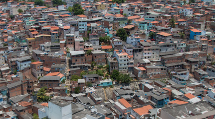 Favela and buildings - Urban social contrast
