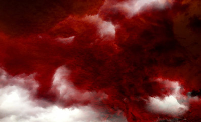 Digital background art of clouds