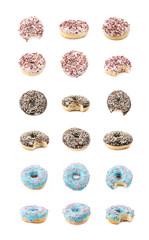 Single glazed donut isolated