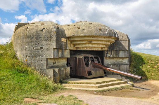 Second World War, Battle of Normandy, France, Battery of Longues