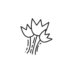 flowers icon. Element of make up and cosmetics icon for mobile concept and web apps. Outline dusk style flowers icon can be used for web and mobile