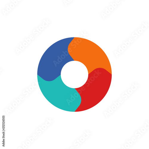 Colored Infographic Pie Chart Illustration Element Of Business