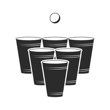 Beer pong icon. Vector. Isolated.