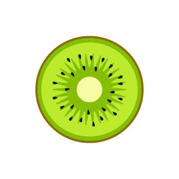 Kiwi illustration. Vector. Flat design.